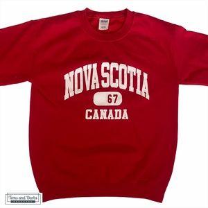 Nova Scotia Unisex Crew Neck Sweater Red